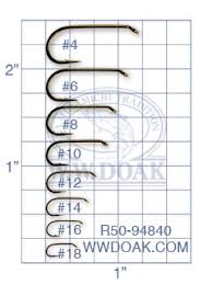 Fly Tying Hook Chart Hooks W W Doak And Sons Ltd Fly Fishing Tackle