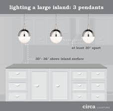 how to hang pendant lights circa lighting blog when installed over large islands a trio of
