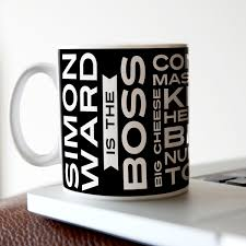 office space coffee mug. Personalised Mug - The Boss Office Space Coffee
