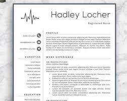 Professional Nursing Resume Nursing Resume Etsy