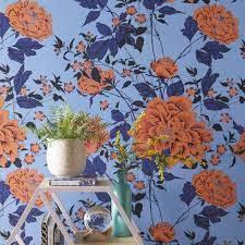 Vintage Orange Flower Interior Wall ...