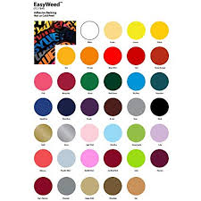 Siser Color Chart Siser Easyweed 1 Yard Roll 38 Available Colors To Chose From