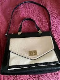 Authentic Kate Spade Juliette Walter Place Handbag Black / White / Beige  EUC | eBay