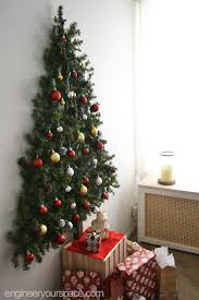 PreLit Mounted Foliage  WallHanging Christmas TreesChristmas Trees That Hang On The Wall