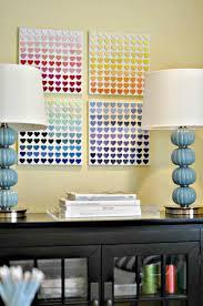 Paint Chip Heart Art Teen Room Decor DIY For Bedroom Decor Teenage Magnificent Diy For Bedroom
