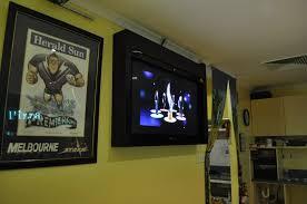 Large Tv Cabinets Floating Black Wooden Tv Cabinet With Rectangular Black Led Tv On
