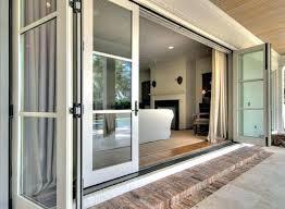 3 panel glass door double sliding patio doors exterior three andersen 4 cost