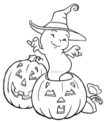 Small Picture Pumpkin And Ghost Coloring Pages Coloring Pages Kids