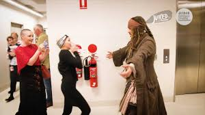 Dressed as <b>Captain Jack Sparrow</b>, Johnny Depp visits children in ...