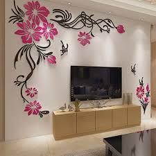 spectacular idea beautiful wall decor small home decoration ideas large tv background decorations flower vine acrylic tiles