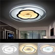 18w modern round flower acrylic led ceiling light warm white white lamp for living room ac220v white cod