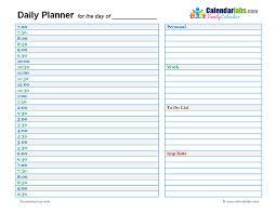 Daily Planner Template Printable Vastuuonminun