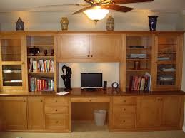 Built In Office Desk And Cabinets Custom Home Office Cabinets In Southern California