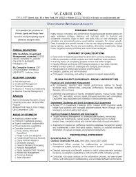 Cover Letter For Research Analyst Research Analyst Cover Letter ...