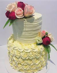 2 Tier Rosette And Textured Buttercream Custom Cake Cake Creations