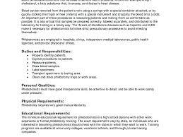 Phlebotomy Resume Sample Resume Template Marvellous Design