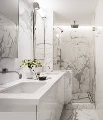 White Marble Bathroom Contemporary With Two Sinks Top Vanities - White marble bathroom