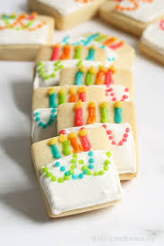 Mini Birthday Cake Cookies Cute Decorated Cookie Idea