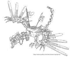 Free Coloring Pages Of Ninjago Fire Dragon G Dragones Y Mecanicos