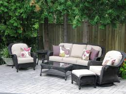 cozy unilock pavers with comfortable hampton bay patio furniture and decorative cushions