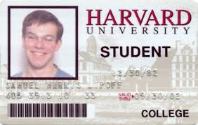 Template Student Harvard Id International Card