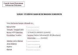 Berikut ini adalah sebuah contoh surat pernyataan kebenaran dan keabsahan dokumen lingkungan yang bisa anda jadikan bahan referensi. Contoh Surat Pernyataan Kebenaran Data Dan Keabsahan Dokumen Contoh Seputar Surat