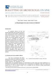 La Arqueología de la casa romana en Cataluña - Bollettino di ...
