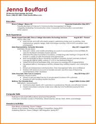 Sample Resume Templates For College Students Awesome Student