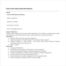 Excellent Foot Locker Sales Associate Resume 39 In Sample Of Resume with Foot  Locker Sales Associate Resume