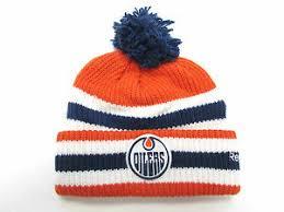 Edmonton oilers vintage ccm orange striped winter hat customizable. Edmonton Oilers Nhl Fan Cap Hats For Sale Ebay