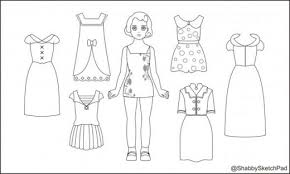 Small Picture Paper Dolls Coloring Page HubPages