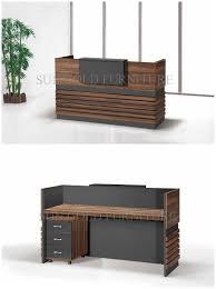 Wood Office Counter Design Salon Reception Desk Ideas Popular Simple Wooden Front