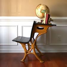 school desk bench desk chair bamboo by rhapsodyattic