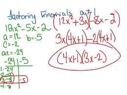 Ac Method Factoring Trinomials Ac Method Math Showme