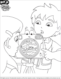 Small Picture Go Diego Go Coloring Picture