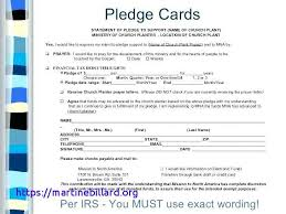 Church Pledge Form Template Hausnuc Capital Campaign Intended For