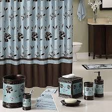 curtain alluring blue brown shower aqua and elegant amazing set kids of light blue and brown