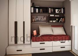 bedroom design for small space. Space Saving Designs For Small Kids Rooms Brown Red White Room Bedroom Design R