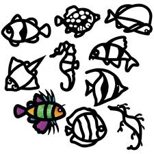 cardboard tropical fish stained glass frames pack of 24 paper activities cleverpatch art craft supplies