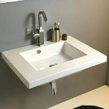 hanging sink modern wall hung sink with single hole faucet drilling wide rim hanging sink bathroom