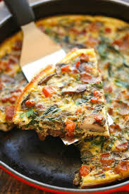 bacon mushroom spinach frittata so quick so easy and so perfect as a quick