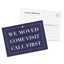 Announcement Postcards 50 Moving Announcement Postcards Weve Moved Postcards New Address