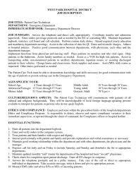 ... Awesome Idea Patient Care Technician Resume 7 Patient Care Associate  Job Description For Resume ...