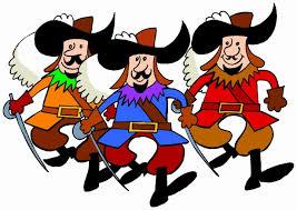 Tre musketörer Gratis Stock Bild - Public Domain Pictures