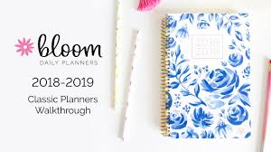 Academic Daily Planner Bloom Daily Planners 2018 2019 Classic Academic Year August July