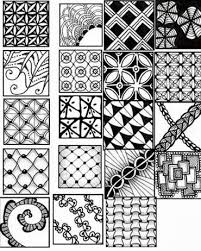Zentangle Patterns To Print