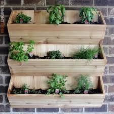 cedar wall planter