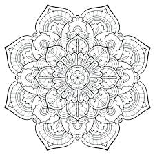 Mandala Coloring Pages Printable Intricate Mandala Coloring Pages By