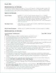 Oracle Dba Cv Oracle Dba Resume Examples Oracle Resume Inspirational Database