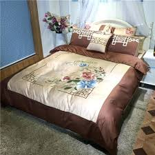 blue and brown duvet cover cotton blue brown wedding bedding set luxury embroidery duvet cover flat sheet bed linen quilt cover set sheets and bedding